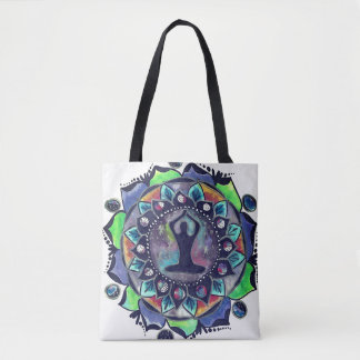 Cosmic Yoga Moon Phases Tote Bag