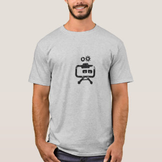 Cosmicity Logobot Grey Distressed T-Shirt