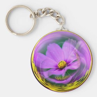 Cosmo Bubble Basic Round Button Key Ring
