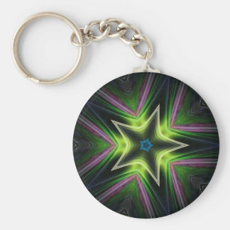 Cosmo Star Basic Round Button Key Ring