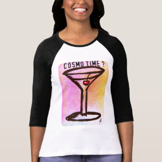 COSMO TIME PASTEL MARTINI 60s print by jill Tee Shirts
