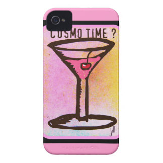 COSMO TIME PINK MARTINI PRINT Case-Mate iPhone 4 CASE