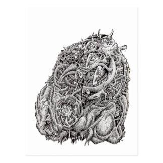 Cosmographic Head by Brian Benson Postcard