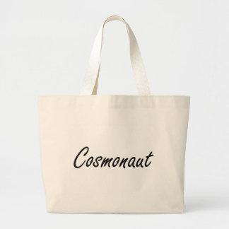 Cosmonaut Artistic Job Design Jumbo Tote Bag