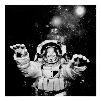 Cosmonaut Cat Poster