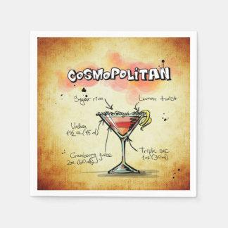 Cosmopolitan Bartender Drink Recipe Paper Napkins