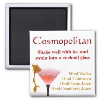 Cosmopolitan Cocktail Recipe Magnet
