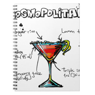 Cosmopolitan Cocktail Recipe Notebook