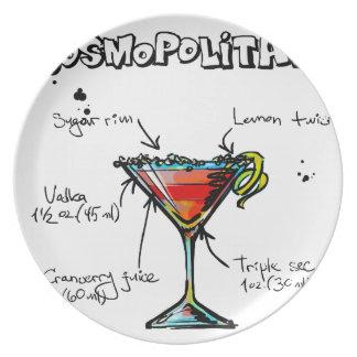 Cosmopolitan Cocktail Recipe Plate