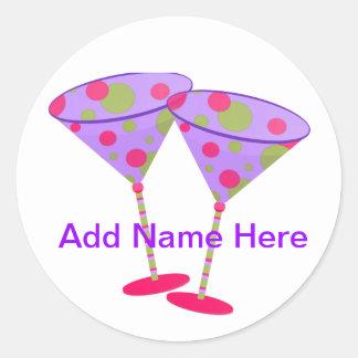 Cosmopolitan Martini Party Time ! Classic Round Sticker