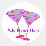Cosmopolitan Martini Party Time ! Round Stickers