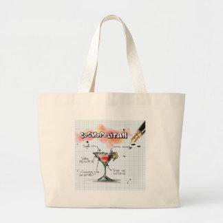 Cosmopolitan Recipe - Cocktail Gift Jumbo Tote Bag