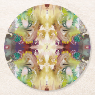 Cosmos Abstract Round Paper Coaster