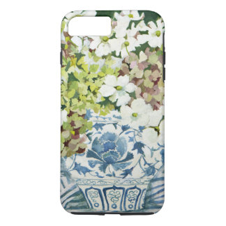 Cosmos and hydrangeas in a chinese vase 2013 iPhone 8 plus/7 plus case