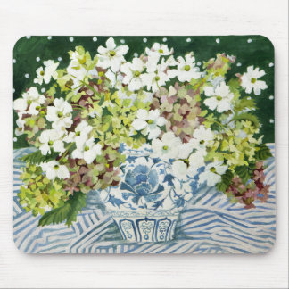 Cosmos and hydrangeas in a chinese vase 2013 mouse mat
