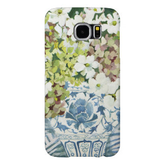 Cosmos and hydrangeas in a chinese vase 2013 samsung galaxy s6 cases