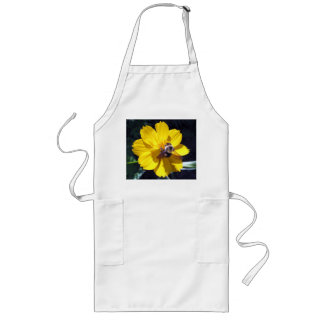 Cosmos Attracts Bumblebee Apron