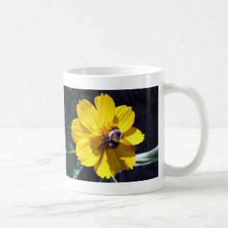 Cosmos Attracts Bumblebee Basic White Mug