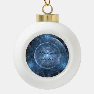 Cosmos Background 001 Ceramic Ball Christmas Ornament