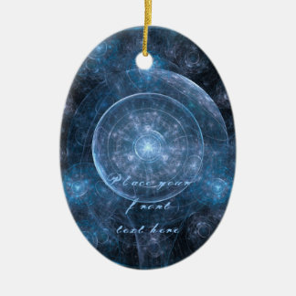 Cosmos Background 001 Ceramic Oval Decoration