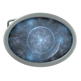Cosmos Background 001 Oval Belt Buckle