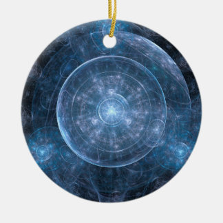 Cosmos Background 001 Round Ceramic Decoration