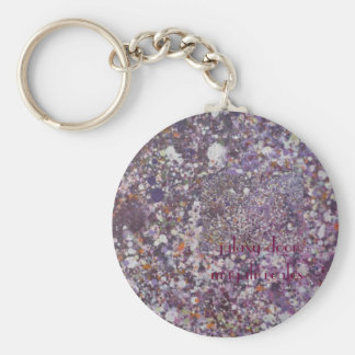cosmos basic round button key ring