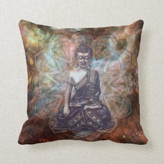 Cosmos Buddha Throw Pillow
