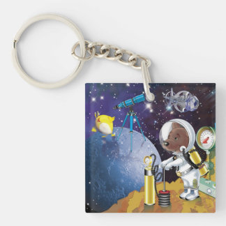 cosmos Double-Sided square acrylic key ring