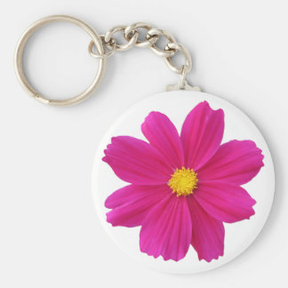 cosmos flower basic round button key ring