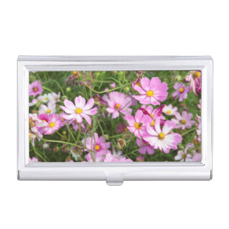 Cosmos Flower (Bidens Formosa). Kirkwood Business Card Holder