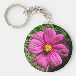 Cosmos Flower Key Ring Keychains