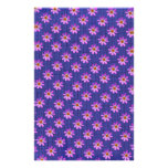 Cosmos Flower with Blue background Stationery Paper