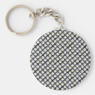 Cosmos flower with bubbles background key chains