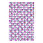 Cosmos flower with line background stationery paper