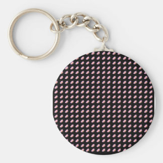 Cosmos Flowers with black background Keychain