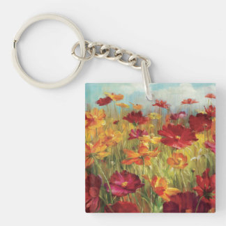 Cosmos in the Field 2 Square Acrylic Key Chain