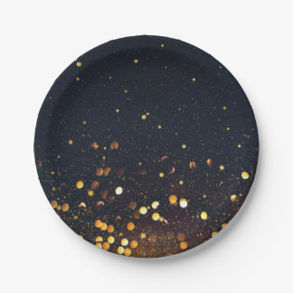 Cosmos party paper plate
