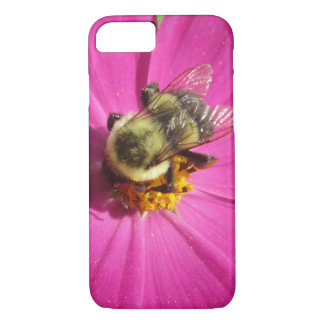Cosmos Red Flower Bee iPhone 7 Case