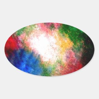 Cosmos Oval Sticker