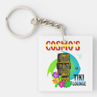 Cosmo's Tiki Lounge Single-Sided Square Acrylic Key Ring