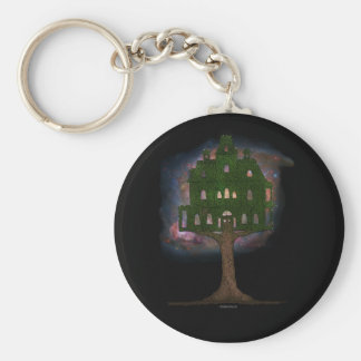 Cosmos Tree House Basic Round Button Key Ring