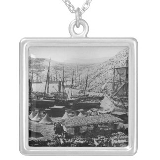 Cossack Bay, Crimea, c.1855 Silver Plated Necklace