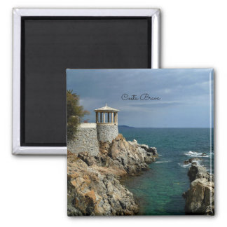 Costa Brava, Spain scenic photograph Square Magnet