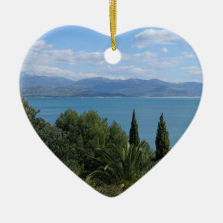 Costa del Cilento double-sided custom ornament