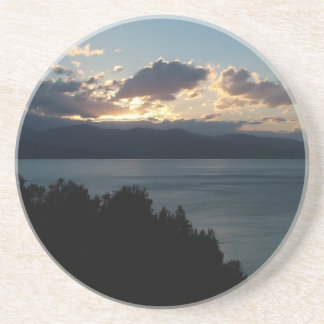 Costa del Cilento Sunrise custom coaster
