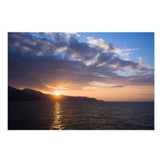 Costa del Sol Sunset at the Mediterranean Sea Photograph