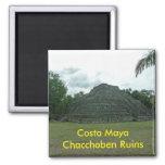 Costa Maya Chacchoben Ruins, Mexixo Square Magnet