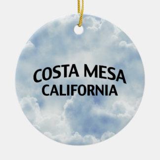 Costa Mesa California Christmas Ornament