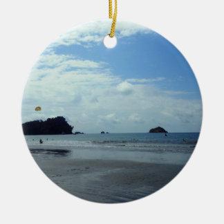Costa Rica beach Christmas Ornament